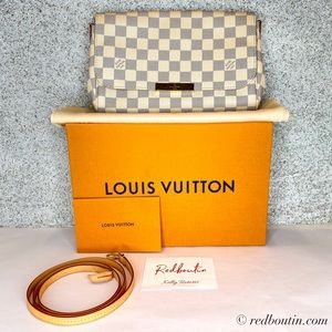 LOUIS VUITTON Damier Azur Favorite MM crossbody